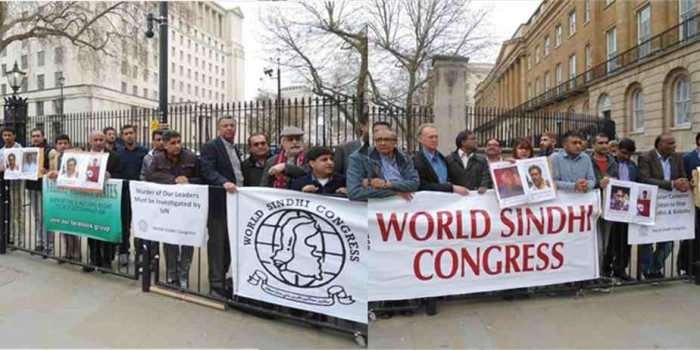 Rally to Stop Extrajudicial Killing of Sindhi Political Activists by Pakistani Agencies (Murder of Maqsood Qureshi and Salman Wadho Condemned)
