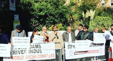 London Protest Against River Indus Dam